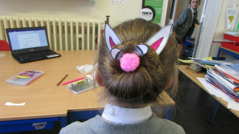 Easter bunny hairstyle