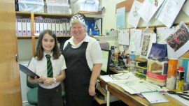 Mrs Wilmhurst school cook