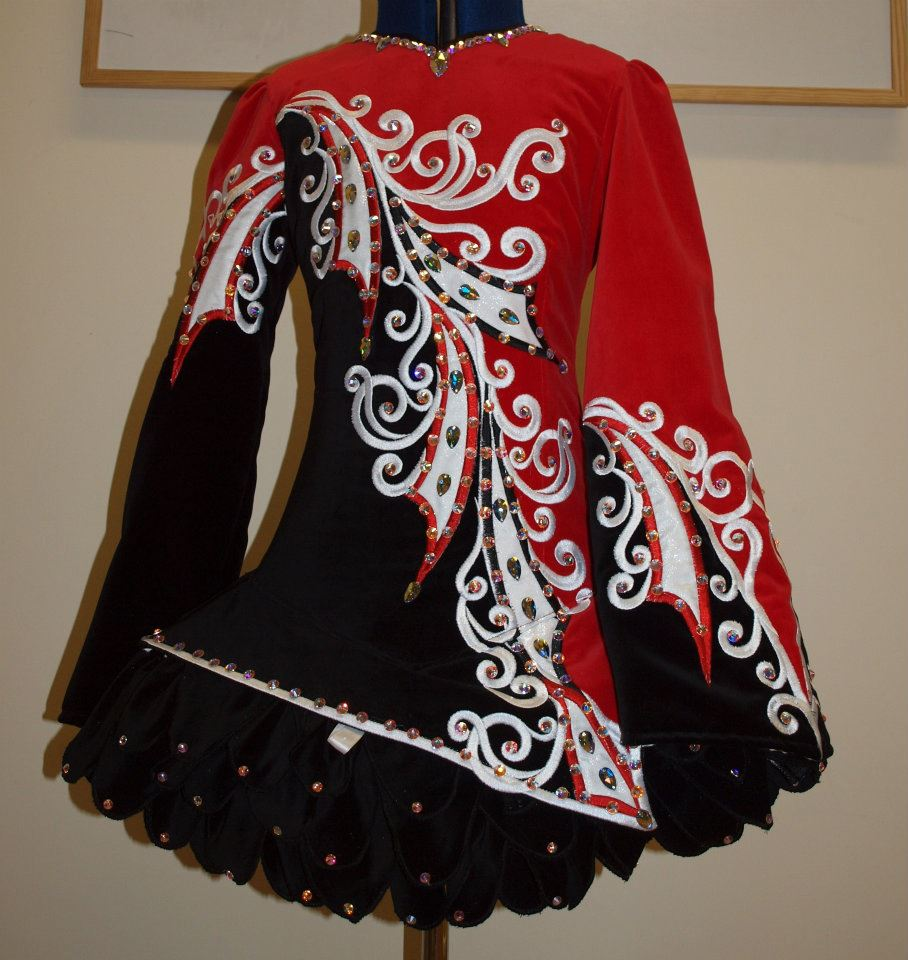 red irish dancing dress