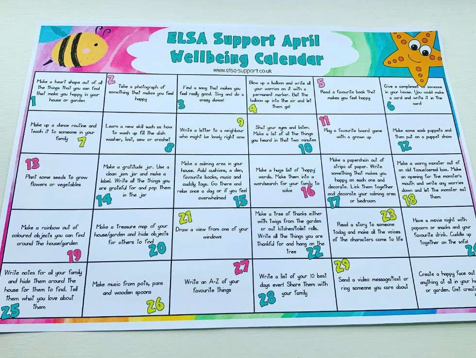 ELSA Support wellbeing chart